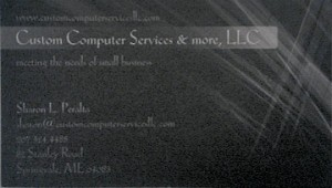 Custom Computer Biz Card Before