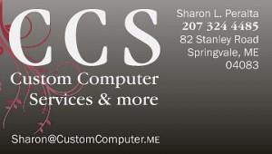 Custom Computer Color Biz Card